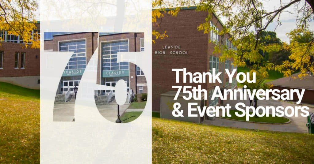 Thank You 75th Anniversary and Event Sponsors